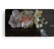 Three Little Teddies. Metal Print