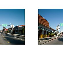 Sunset Boulevard + Virgil Avenue, Los Angeles, California, USA...narrowed. by David Yoon