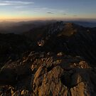 sunrise at my side - jade mountain by Ryan Bird