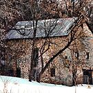 The Cottage Stone Barn of Dunlop Hollow by wiscbackroadz