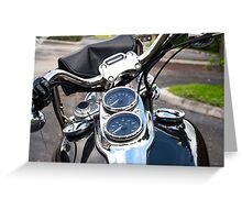 Motorcycle View Greeting Card