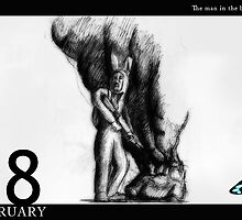 February 18th - The man in the bunny suit by 365 Notepads -  School of Faces
