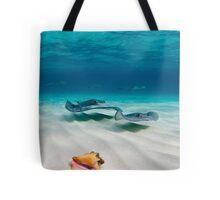 Two stingrays & a shell went into a sandbar... Tote Bag
