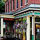 Corner Restaurant with Hanging Plants by Susan Savad