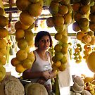 The Girl in the Santarem Brazil Market by Lucinda Walter