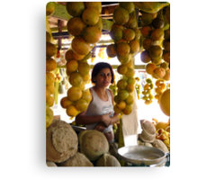 The Girl in the Santarem Brazil Market Canvas Print