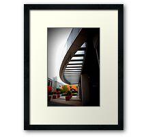 urban plaza Framed Print