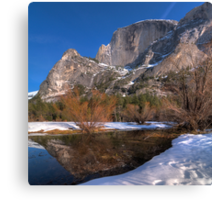 Half Dome Reflections Canvas Print