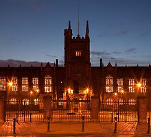 Queens University Belfast at dawn. by Peter Ellison
