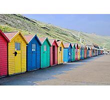 Beach huts at Whitby Photographic Print