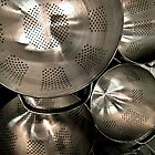 colanders by Bruce  Dickson