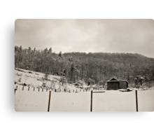 Somewhere Snowed In Time Canvas Print