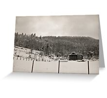 Somewhere Snowed In Time Greeting Card