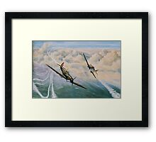 B of B - Spitfire and Me109  Framed Print