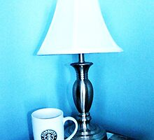 lamp and mug by bpth htpb