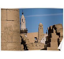 Mosque on Karnak Temple Poster