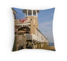 Pizza on the Pier Throw Pillow