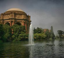 Palace in Fog by Barbara  Brown