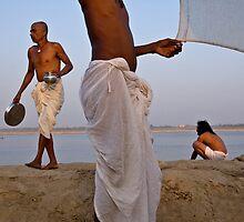 Pilgrims. Varanasi by Claude  Renault