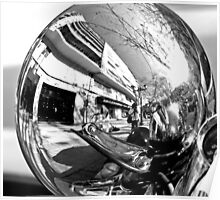 Mirror... Mirror... on the Scooter. B/W Poster