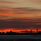 Silhouettes At Sunset, Portsmouth by Jane Burridge
