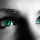 The Girl with the Turquoise Eyes  by Sandra Bauser Digital Art