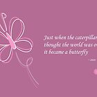 The Butterfly Quote Card [Purple] by Louise Parton