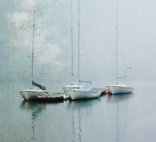 sailboats in the fog by bettywiley