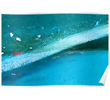 Aqua Angle Poster
