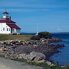 Gilberts Cove lighthouse by Roxane Bay