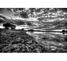 Up the Shoreline-B+W Photographic Print
