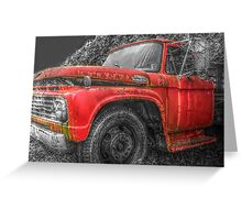 Old Farm Truck HDR SC Greeting Card