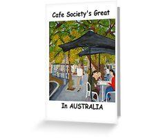 Café Society, Pyrmont, NSW Australia  Greeting Card