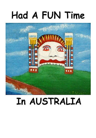 Had A FUN Time In AUSTRALIA (Card) by C J Lewis