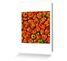 Red Scotch Bonnet Peppers Greeting Card