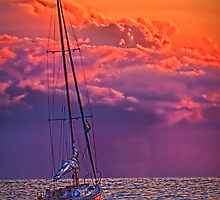 Drop Anchor and Watch the Sun Set! by Peter Thorpe