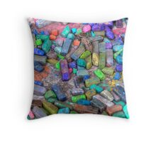 Pastel Chalks- sea tones Throw Pillow