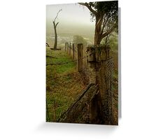 Mist and Dew Greeting Card