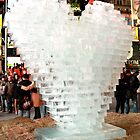 Ice Heart Sculpture in New York City by ZeeZeeshots