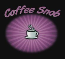 Coffee Snob Purple on Black by Michael Coots