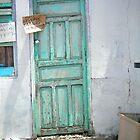 Aqua Door by Cathy Klima