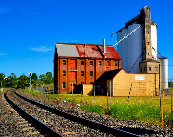 Gunnedah Maize Mill - NSW - Australia by Bryan Freeman