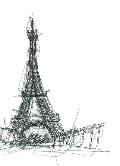 Eiffel Tower Sketch by Bradley B.  Huizenga