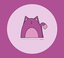 Purple Cat Card by Louise Parton