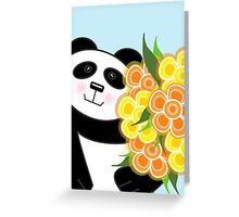 Panda Card Greeting Card