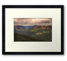 Student Of Light - Govetts Leap, Blue Mountains World Heritage Area - The HDR Experience Framed Print