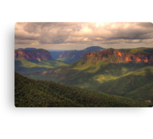 Student Of Light - Govetts Leap, Blue Mountains World Heritage Area - The HDR Experience Canvas Print