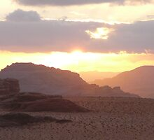 Sunset over Wadi Rum by dimpdhab
