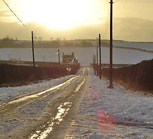 Snowy Scottish Lane by Richard Nelson