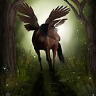 Pegasus in Woodland by Dawnsky2